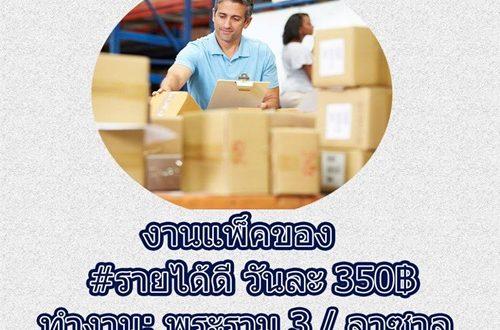 งาน Part Time แพ็คสินค้า รับจำนวนมาก (1-30 กันยายน 2560)