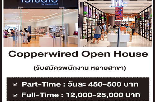 Copperwired รับสมัครพนักงาน Part Time – Full Time