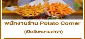 รับสมัครพนักงานร้าน Potato Corner หลายสาขา (รายได้เฉลี่ย 13,000++)
